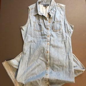 Bluet 💯 cotton light denim maxi dress